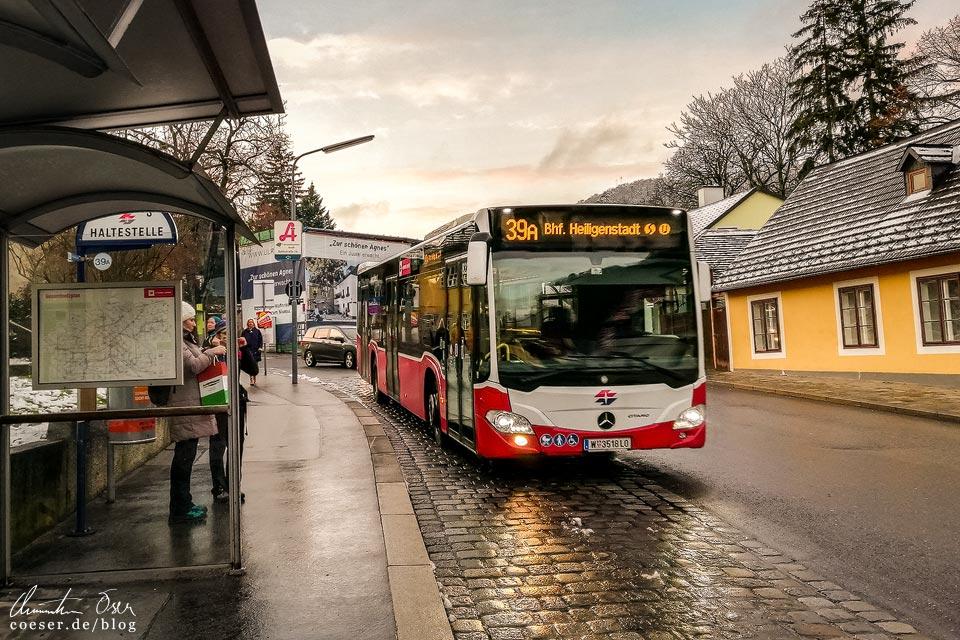 Stadtwanderweg 2 in Wien: Autobus-Haltestelle Sievering (39A)