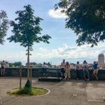Aussichtsterrasse vor der Kathedrale von Lausanne