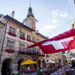 Rathaus auf dem Place de la Palud in Lausanne