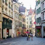 Schöne Gassen in der Altstadt von Lausanne