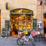 Interessante Geschäfte in der Altstadt von Lausanne