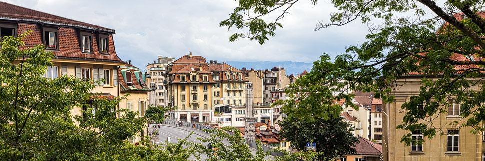 Die Altstadt von Lausanne