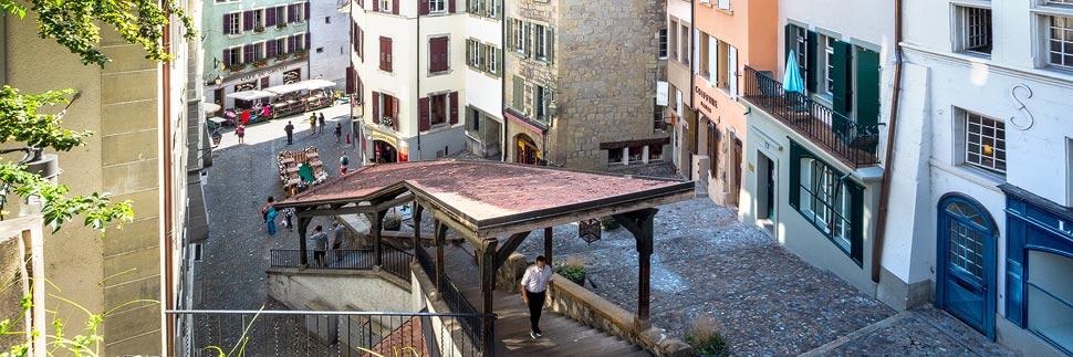 Treppe Escaliers du Marché in Lausanne