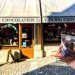 Durig Chocolatier in einer Seitengasse in der Altstadt von Lausanne