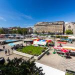 Marché du centre-ville auf der Place de la Riponne