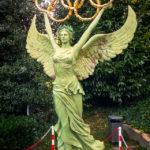 Skulptur im Olympischen Park (Parc Olympique) in Lausanne