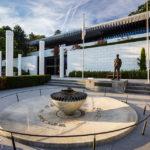 Außenansicht des Olympischen Museums (Musée Olympique) in Lausanne