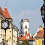 Blick auf den Aussichtsturm Püspökvár in Györ