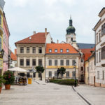 Fußgängerzone in der Altstadt von Györ