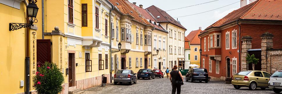 Barocke Altstadt in Györ