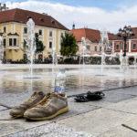 Bodenspringbrunnen auf dem Platz Széchenyi tér