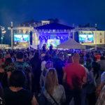 Rockkonzert der Band Republic während des Fröccs-Festivals