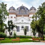 Außenansicht der Großen Synagoge in Györ