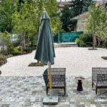 Gartenterrasse im Hotel Nest – Urban Rooms in Györ