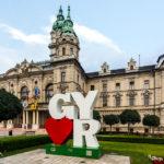Das Rathaus von Györ