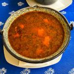 Gulaschsuppe im Restaurant Szegedi Halászcsárda Győr in Györ