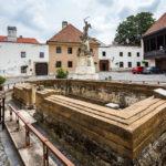 Überreste der Sankt-Lazarus-Kirche in Györ