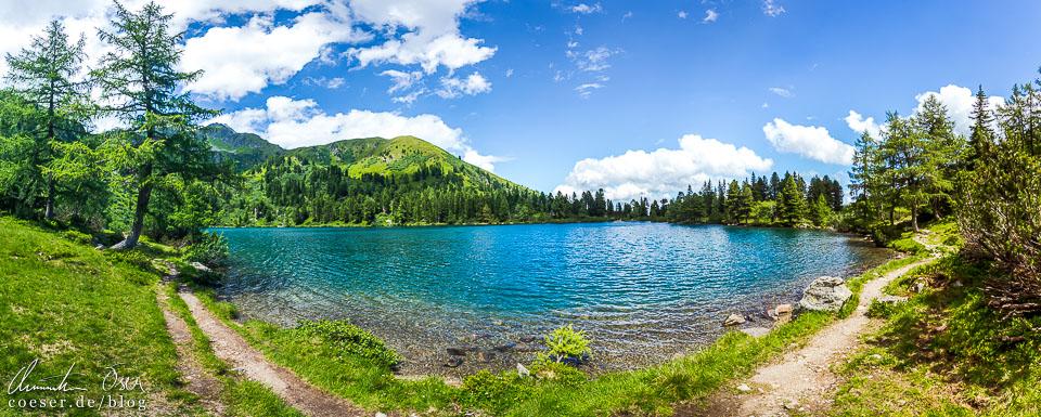Panorama des Wanderwegs um den Großen Scheibelsee